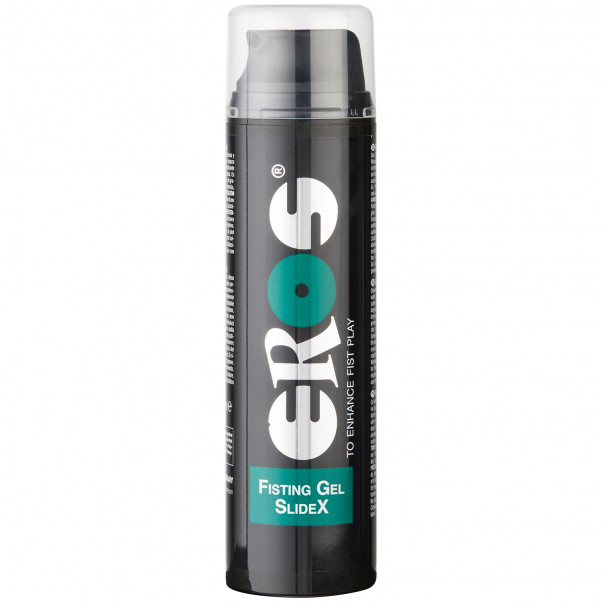 Eros SlideX Fisting Geeli 200 ml tuote kädessä 1