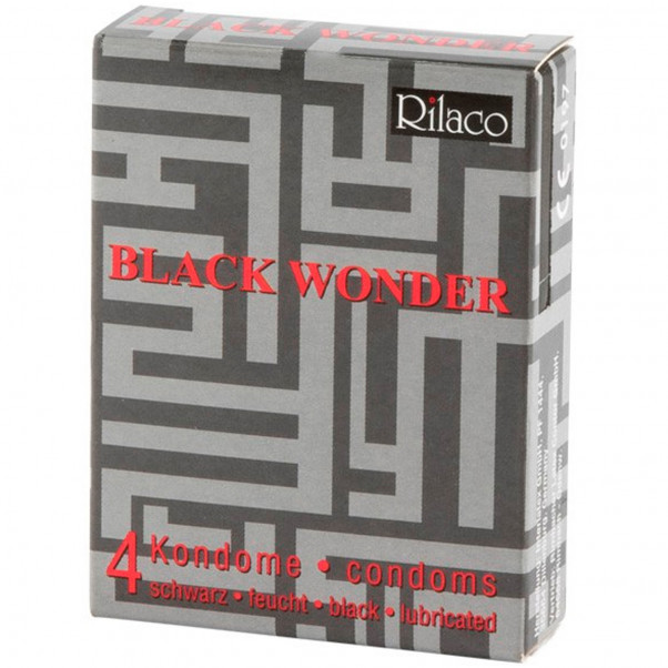 Rilaco Black Wonder Mustat Kondomit 4 kpl  1