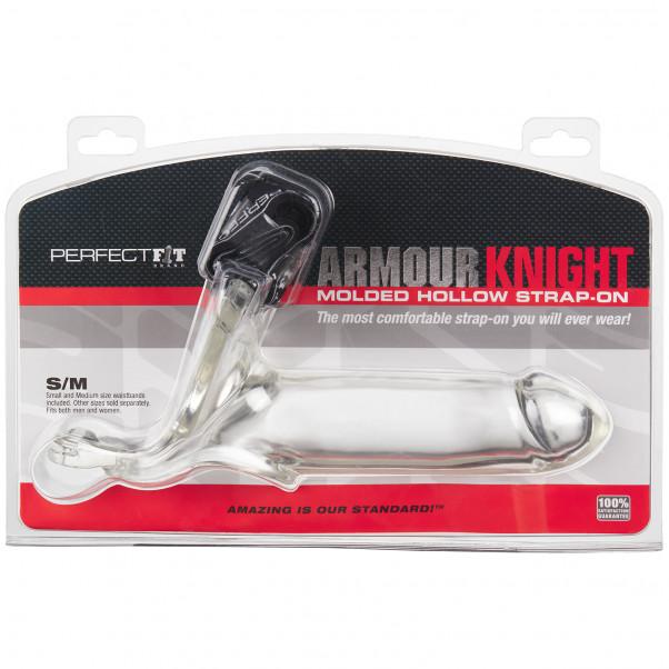 Perfect Fit Armour Knight XL Läpinäkyvä Strap-on kuva tuotepakkauksesta 90