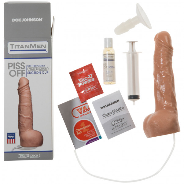 TitanMen Piss Off Vac-U-Lock Ejakuloiva Dildo kuva tuotepakkauksesta 3