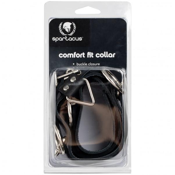 Spartacus Locking Collar Nahkainen Kaulapanta 3 Renkaalla kuva tuotepakkauksesta 90