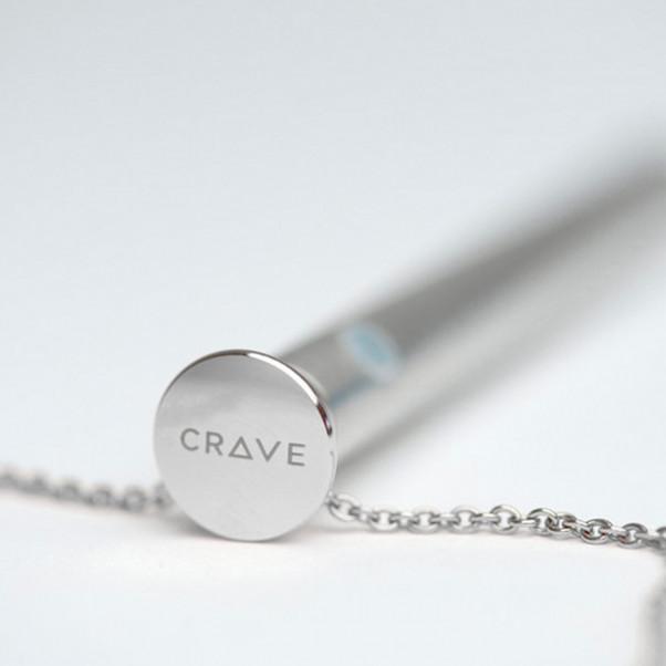 Crave Vesper Hopeanvärinen Kaulakoru Vibraattorilla  2