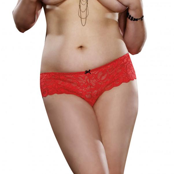 Dreamgirl Open Crotch Punaiset Haarattomat Hipsterit  1