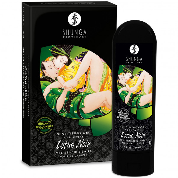 Shunga Lotus Noir Stimuloiva Geeli 60 ml  2