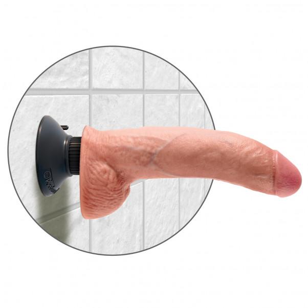 King Cock Realistisk Vibrerende Dildo med Kugler 23 cm