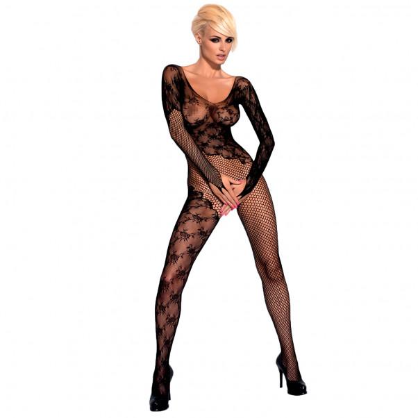 Obessive Blonde Catsuit med Lange Ærmer  1