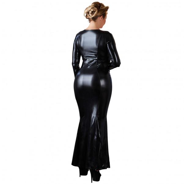 Cottelli Plus Size Pitkä Wetlook-mekko Vetoketjulla  2