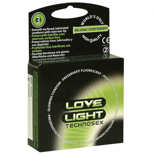 Love Light Glow Hohtavat Kondomit 3 kpl