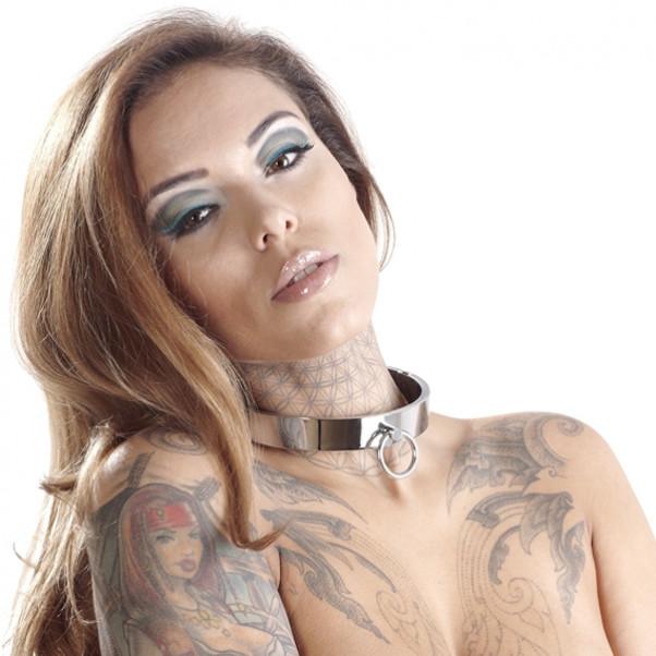 Bad Kitty Iso Metallinen Kaulapanta O-renkaalla