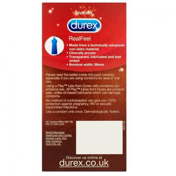 Durex RealFeel Lateksittomat Kondomit 12 kpl