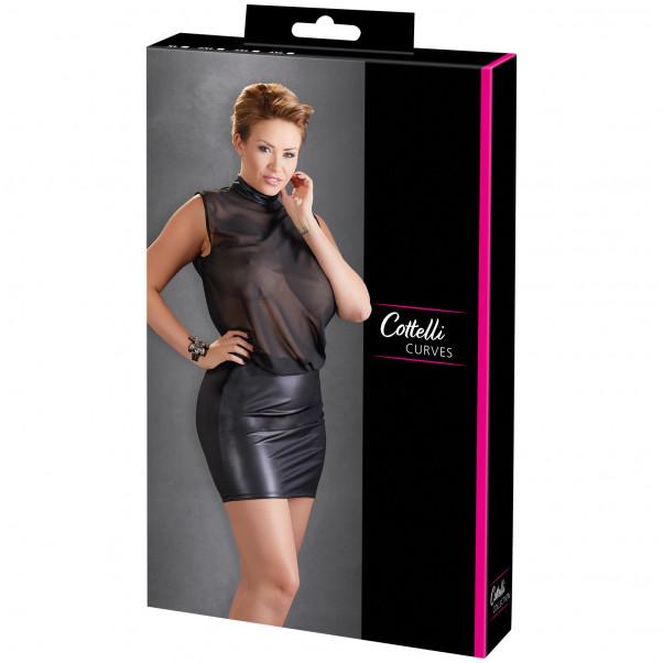 Cottelli Mesh Mini Kjole Plus Size Pack 90