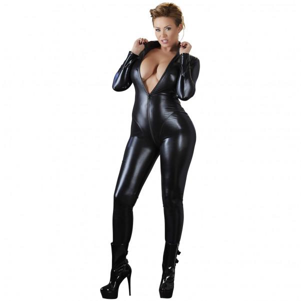 Cottelli Plus Size Wetlook Catsuit