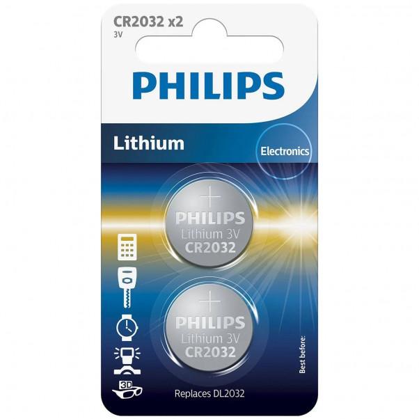 Philips CR2032 Alkaliparistot 2 kpl tuotekuva 1