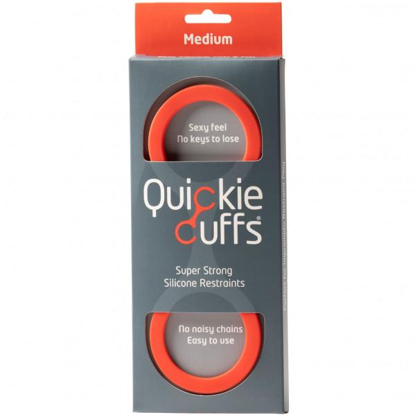 Quickie Cuffs Keskikokoiset Punaiset Silikonikäsiraudat  2