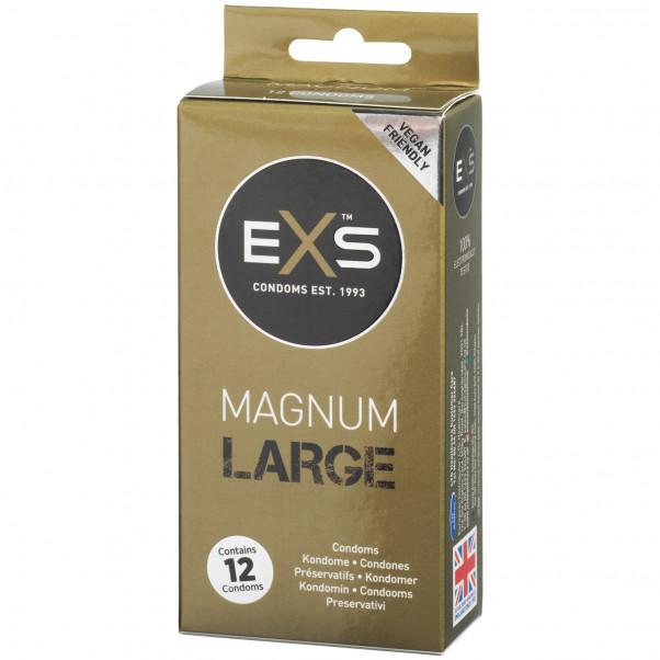 EXS Magnum Large Kondomit 12 kpl Kuva tuotepakkauksesta 1