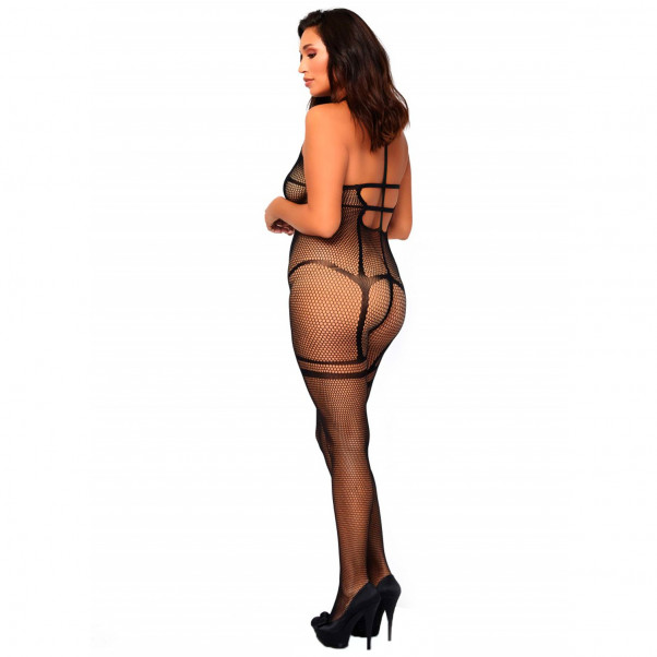 Leg Avenue Plus Size Net Halterneck Catsuit