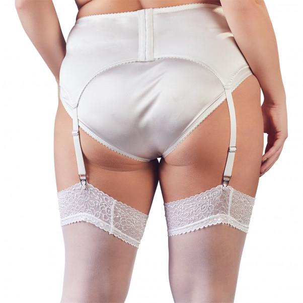 Cottelli Plus Size Valkoinen Sukkanauhaliivi